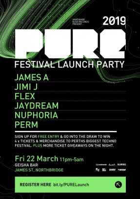 Pure-Featival-Perth-2019_LaunchParty-POSTER